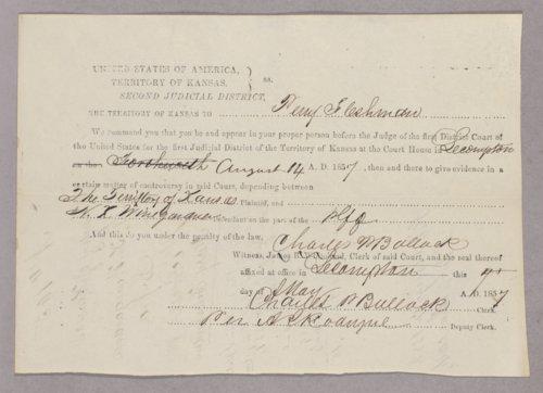 Kansas Territory versus N. K. Winegardner for gambling - Page
