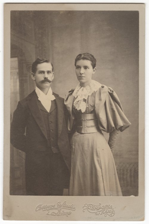 Charles Curtis Carey and Ida May Giddons wedding photo - Page