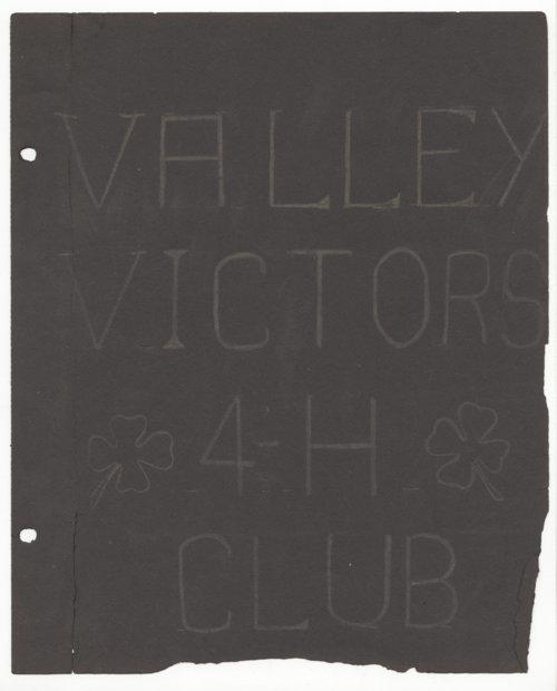 Valley Victors 4-H Club scrapbook - Page