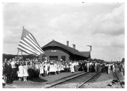 Chicago, Rock Island and Pacific Railroad depot, Alma, Kansas - Page