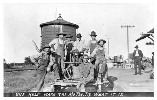 Missouri Pacific Railroad track crew, Uniontown, Kansas - Page
