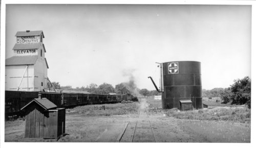 Atchison, Topeka & Santa Fe Railway Company's water tower, Harveyville, Kansas - Page