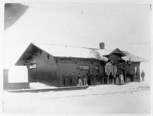 Atchison, Topeka and Santa Fe Railway Company depot, Leoti, Kansas - Page