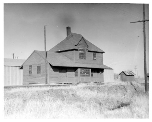 Chicago, Rock Island & Pacific Railroad depot, Hoyt, Kansas. - Page