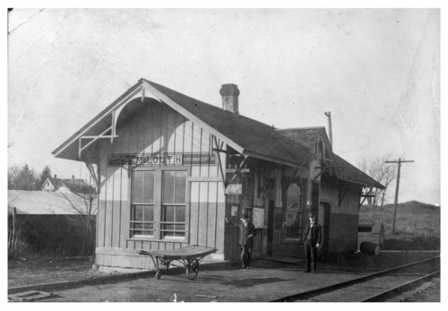 Kansas City, Northwestern Railroad depot, McLouth, Kansas - Page