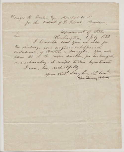 John Quincy Adams letters - Page