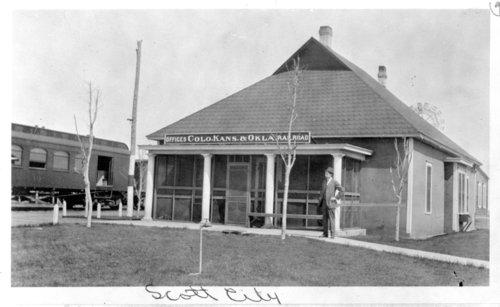 Colorado, Kansas & Oklahoma Railroad Company offices, Scott City, Kansas - Page