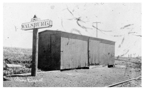 Union Pacific Railroad Company depot, Walsburg, Kansas - Page