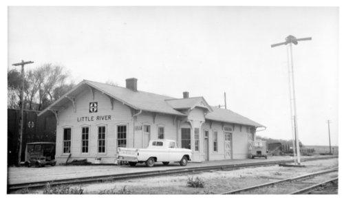 Atchison, Topeka & Santa Fe Railway Company depot, Little River, Kansas - Page