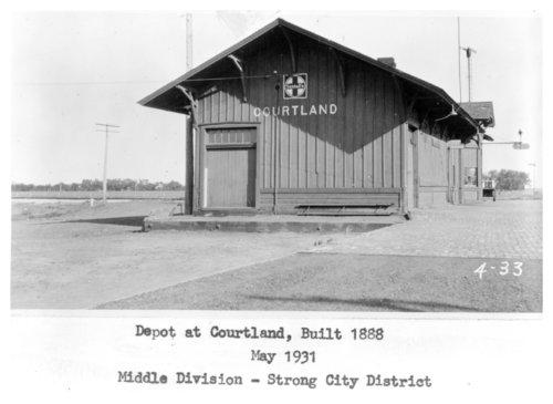 Atchison, Topeka and Santa Fe Railway Company depot, Courtland, Kansas - Page