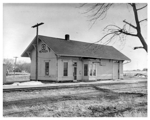 Atchison, Topeka & Santa Fe Railway Company depot, Meriden, Kansas - Page