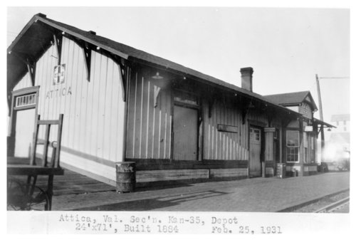 Atchison, Topeka and Santa Fe Railway Company depot, Attica, Kansas - Page