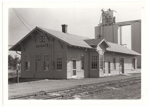 Atchison, Topeka & Santa Fe Railway Company depot, Satanta, Kansas - Page