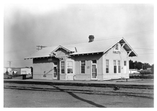Atchison, Topeka and Santa Fe Railway Company depot, Sublette, Kansas - Page