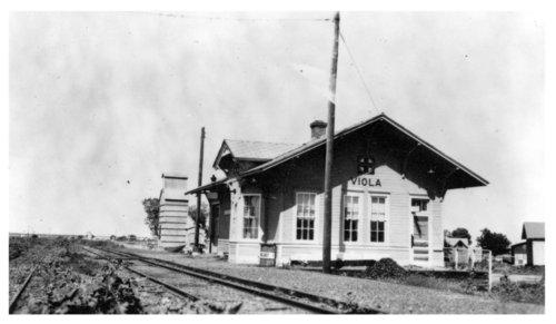 Atchison, Topeka & Santa Fe Railway Company depot, Viola, Kansas - Page