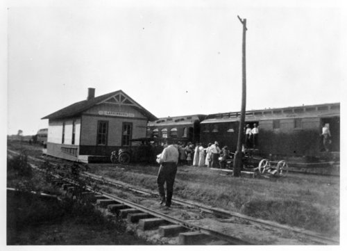Kansas Central Railway & Union Pacific Railroad depot, Larkinburg, Kansas - Page