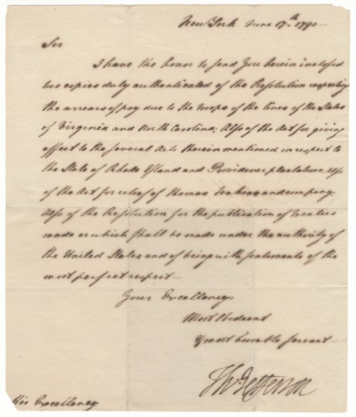 Thomas Jefferson letter - Page