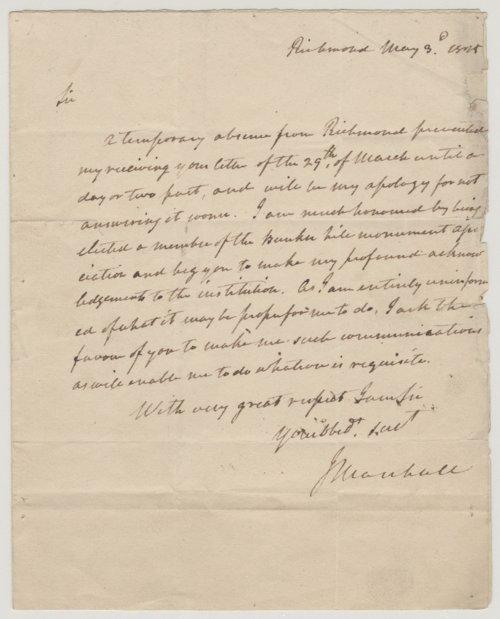 John Marshall to Edward Everett - Page