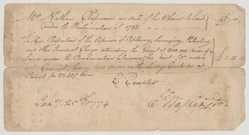 George Washington to Nathan Chapman - Page