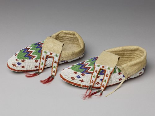 Osage Beaded Moccasins - Page