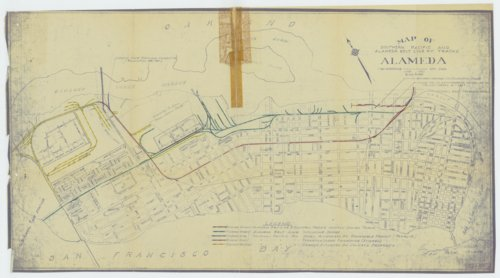 Southern Pacific and Alameda Belt Line map - Page