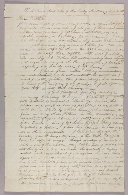 Jedediah Smith to brother - Page