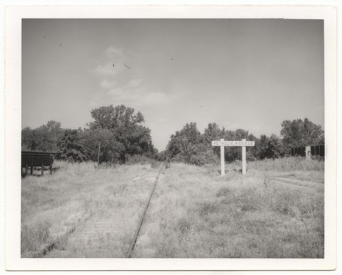 Missouri-Kansas-Texas Railroad sign board, Petrolia, Kansas - Page
