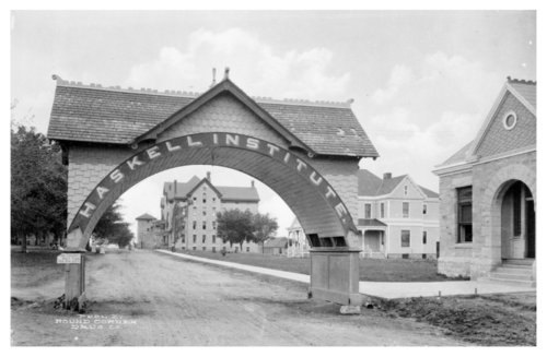 Arched entrance to Haskell Institute - Page