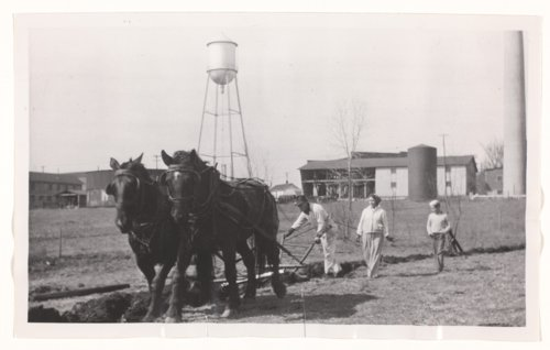 Using a horse-drawn plow, Haskell Institute, Lawrence, Kansas - Page