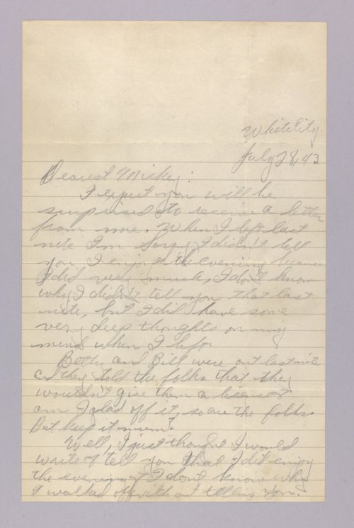 Jim Sharp, World War II letters - Page