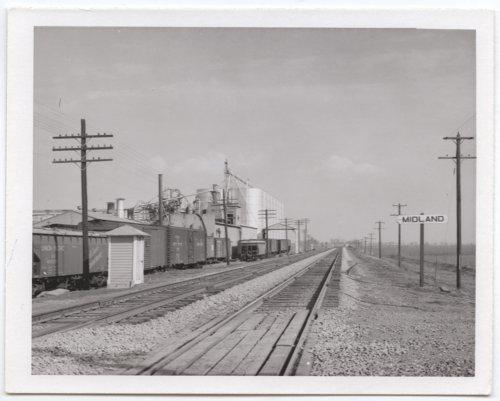 Union Pacific Railroad Company's sign board, Midland, Kansas - Page