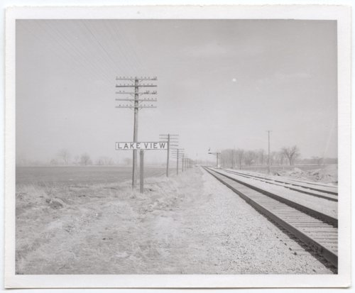 Atchison, Topeka and Santa Fe Railway Company sign board Lakeview, Kansas - Page