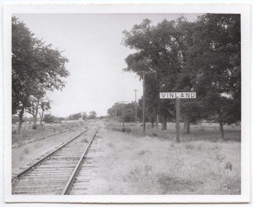 Atchison, Topeka and Santa Fe Railway Company sign board, Vinland, Kansas - Page