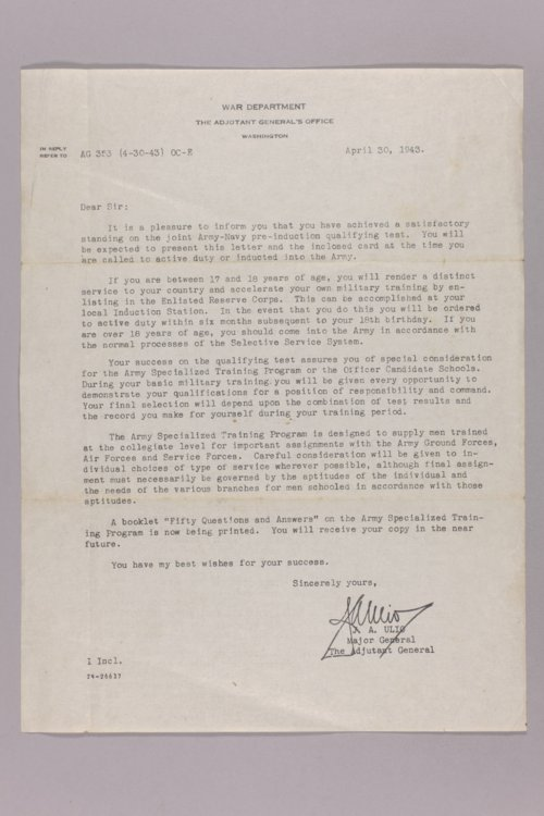 Walter Fredericksen's WWII correspondence and notes - Page