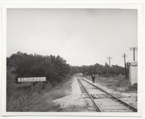 Atchison,Topeka and Santa Fe Railway Company sign board, El Dorado, Kansas - Page