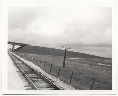 Atchison, Topeka & Santa Fe Railway Company's sign board, Jaques, Kansas - Page