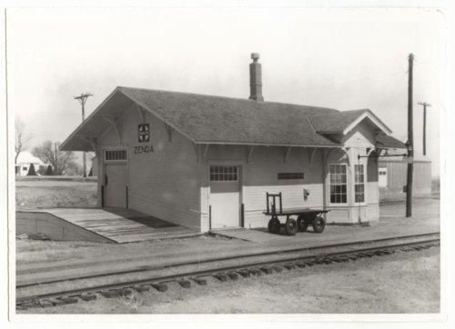 Atchison, Topeka & Santa Fe Railway Company depot, Zenda, Kansas - Page