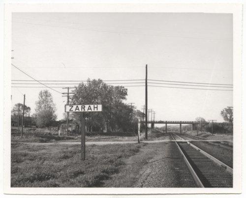 Atchison, Topeka & Santa Fe Railway Company's sign board, Zarah, Kansas - Page