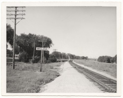 Atchison, Topeka & Santa Fe Railway Company's sign board, Welda, Kansas - Page