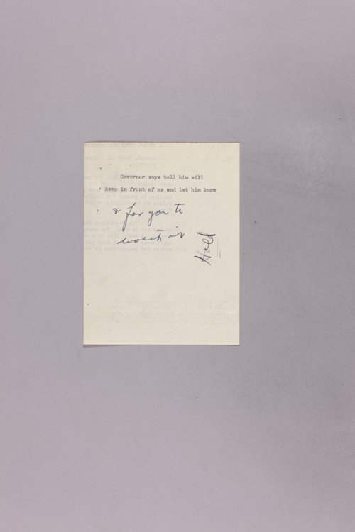 Governor Clyde M. Reed correspondence - Page