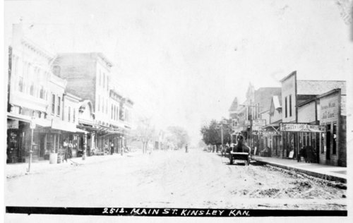 Business street, Kinsley, Kansas - Page