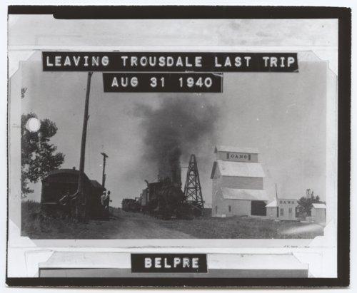 Locomative on tracks, Trousdale, Kansas - Page