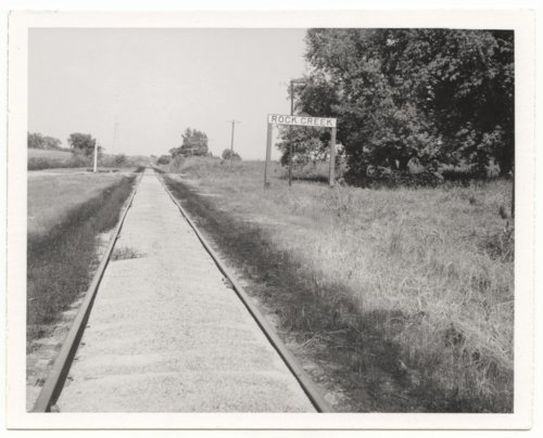 Atchison, Topeka and Santa Fe Railway Company sign board, Rock Creek, Kansas - Page