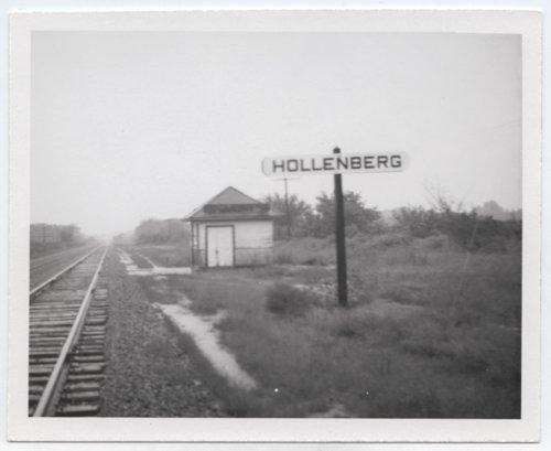 Union Pacific Railroad Company's box depot & sign board, Hollenberg, Kansas. - Page