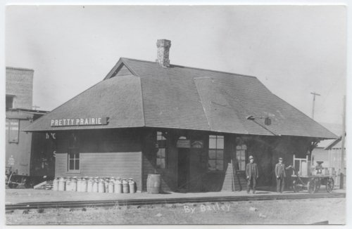 Atchison, Topeka & Santa Fe Railway Company depot, Pretty Prairie, Kansas - Page