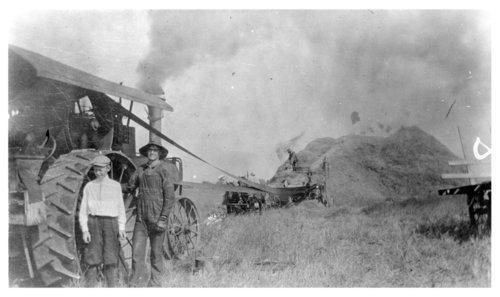 Threshing wheat, Logan County, Kansas - Page