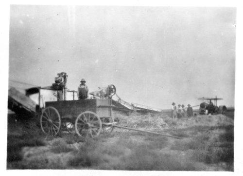 Arne Knox's threshing rig, Logan County, Kansas - Page
