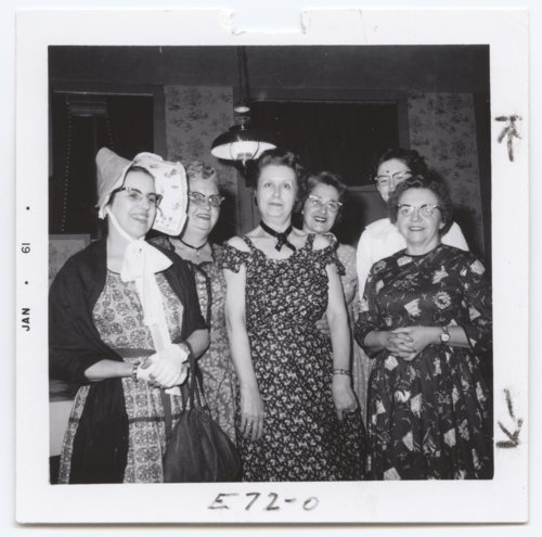 Group in centennial dress, Yates Center, Woodson County, Kansas - Page
