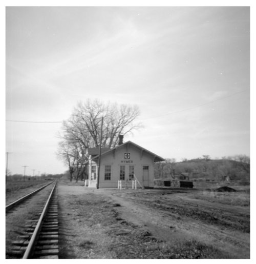 Atchison, Topeka and Santa Fe Railway Company depot, Hymer, Kansas - Page