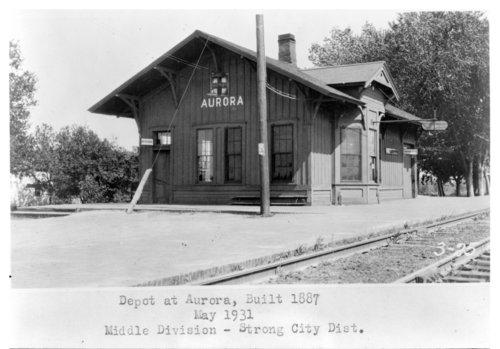 Atchison, Topeka and Santa Fe Railway Company depot, Aurora, Kansas - Page